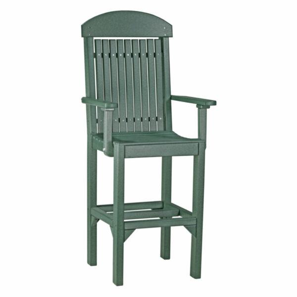 Classic Captain Bar Chair - Green