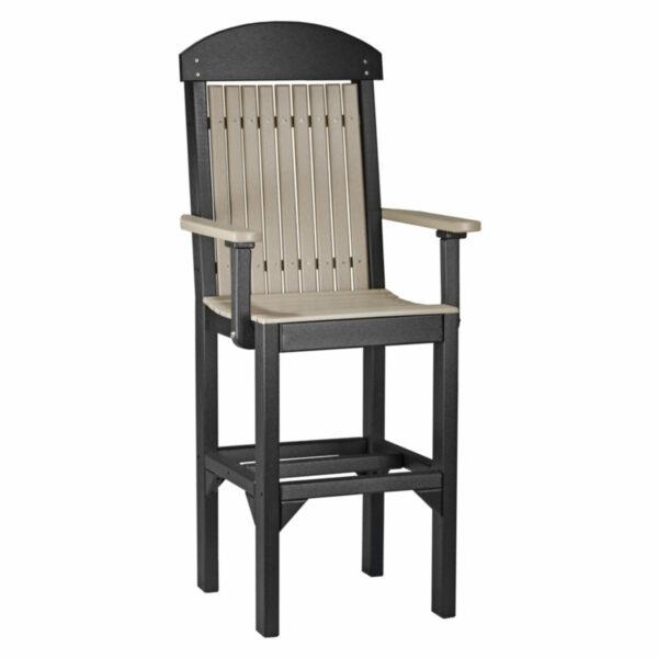 Classic Captain Bar Chair - Weatherwood & Black