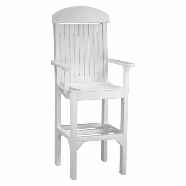 Classic Captain Bar Chair - White