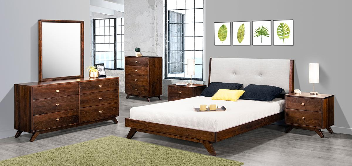 Tribeca Bedroom Set with Upholstered Headboard