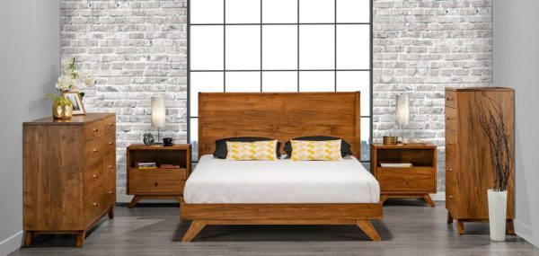 Tribeca Bedroom Set with Wood Headboard