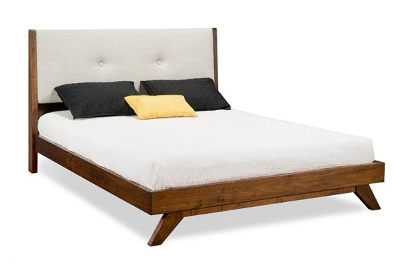 Tribeca Platform Bed with Upholstered Headboard