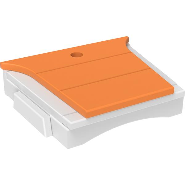 Balcony Tete-a-Tete Table - Tangerine & White