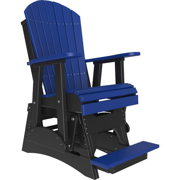 Single Adirondack Balcony Glider - Blue & Black