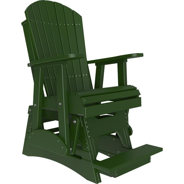 Single Adirondack Balcony Glider - Green