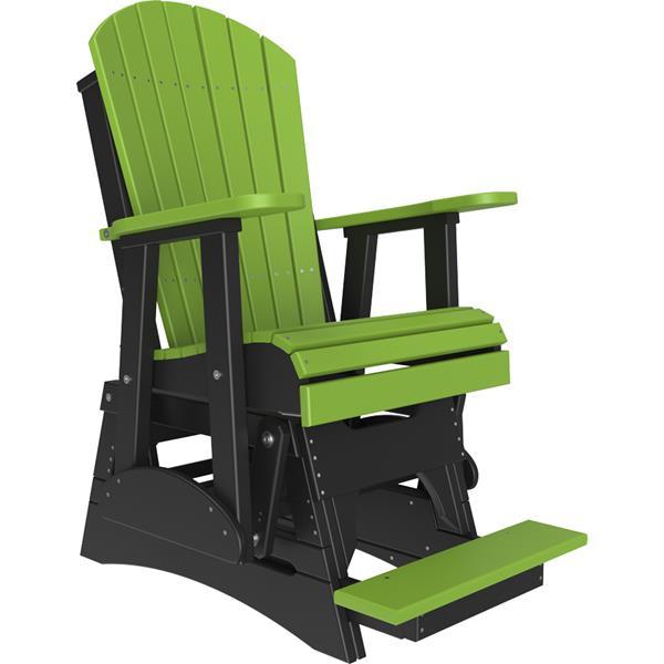 Single Adirondack Balcony Glider - Lime Green & Black