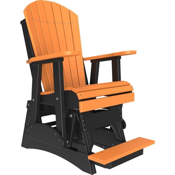 Single Adirondack Balcony Glider - Tangerine & Black