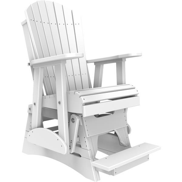 Single Adirondack Balcony Glider - White