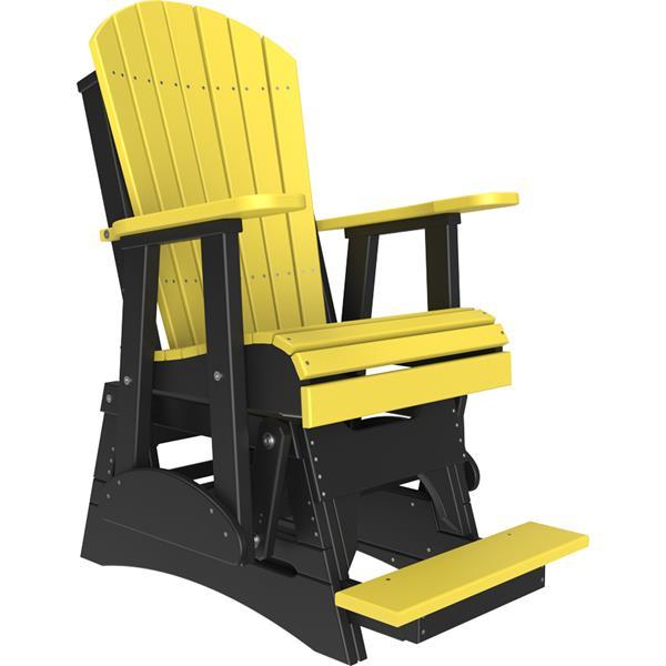 Single Adirondack Balcony Glider - Yellow & Black