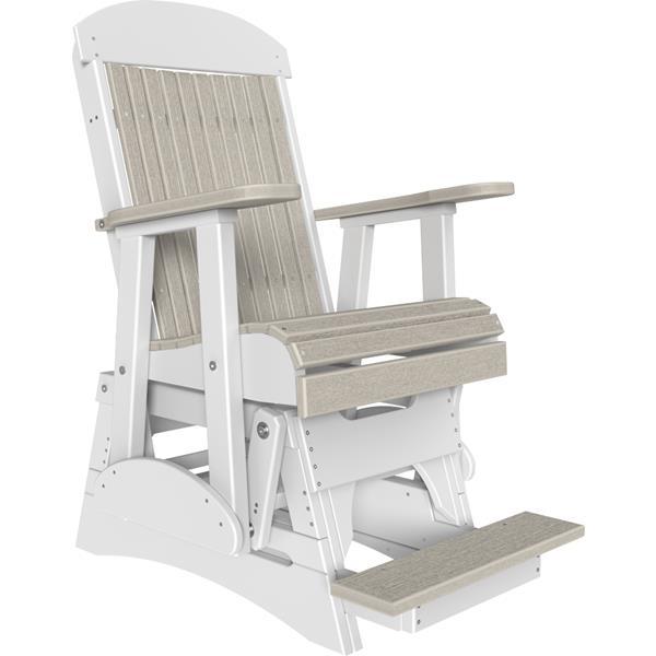 Single Classic Balcony Glider - Birch & White