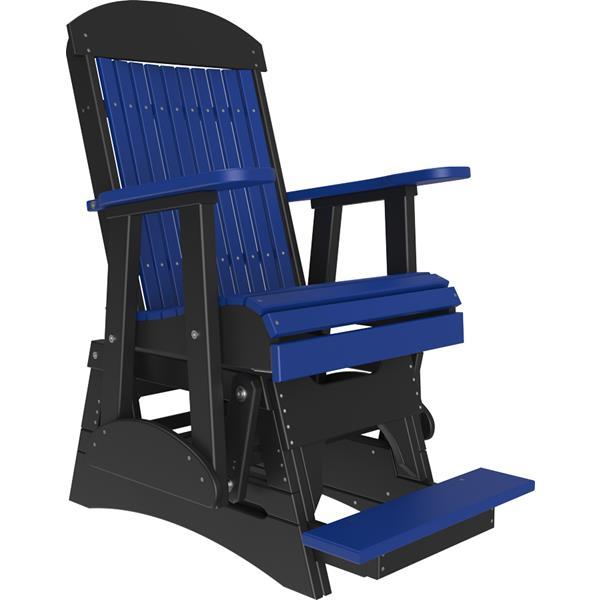 Single Classic Balcony Glider - Blue & Black