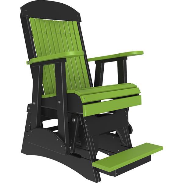 Single Classic Balcony Glider - Lime Green & Black
