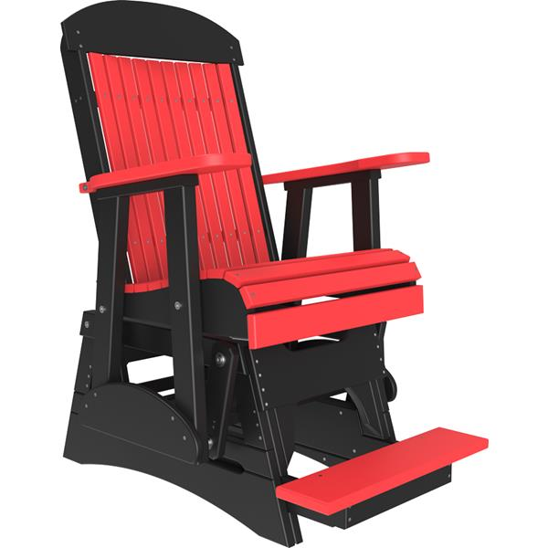 Single Classic Balcony Glider - Red & Black