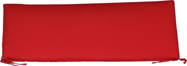 Small Cafe Bench Cushion - Logo Red