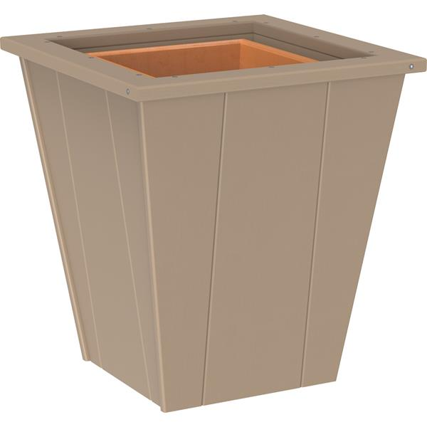 Small Elite Planter - Weatherwood