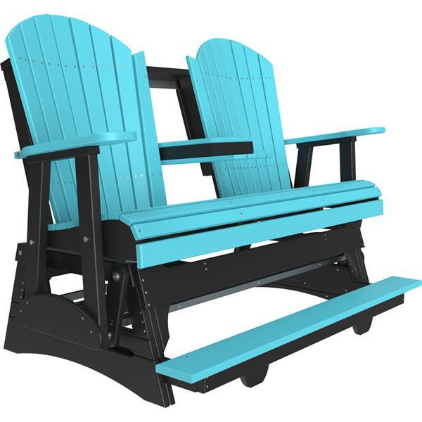Triple Adirondack Balcony Glider - Aruba Blue & Black