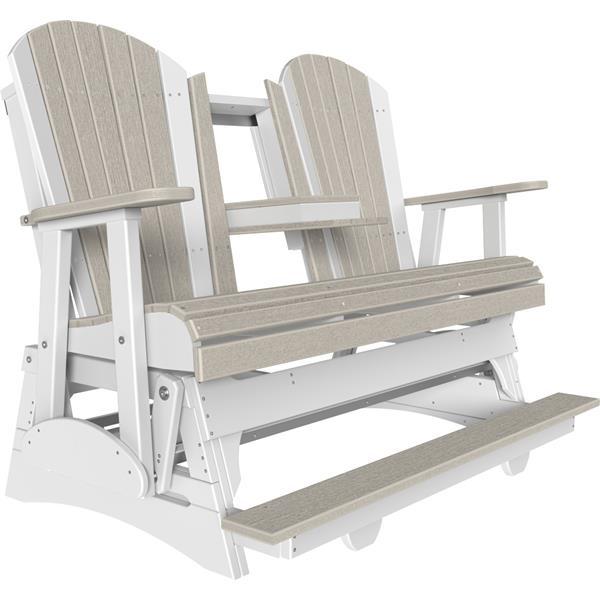 Triple Adirondack Balcony Glider - Birch & White