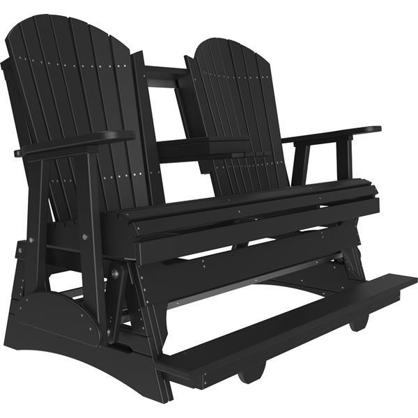 Triple Adirondack Balcony Glider - Black