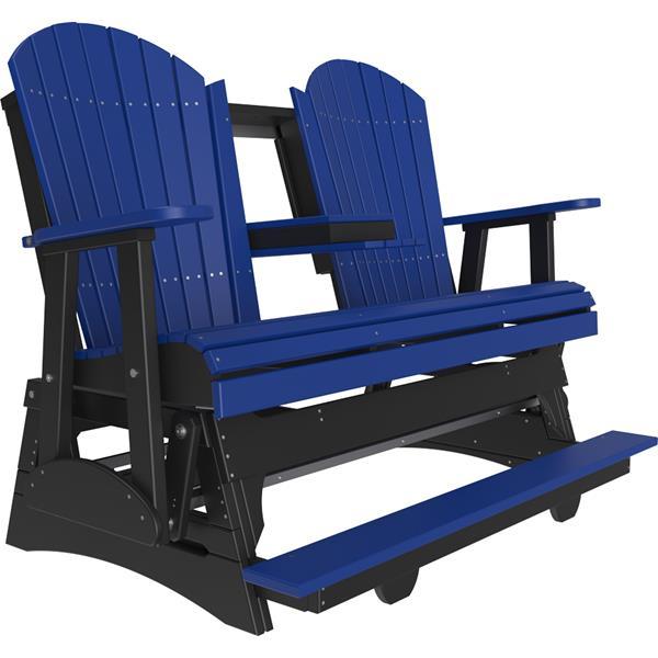 Triple Adirondack Balcony Glider - Blue & Black