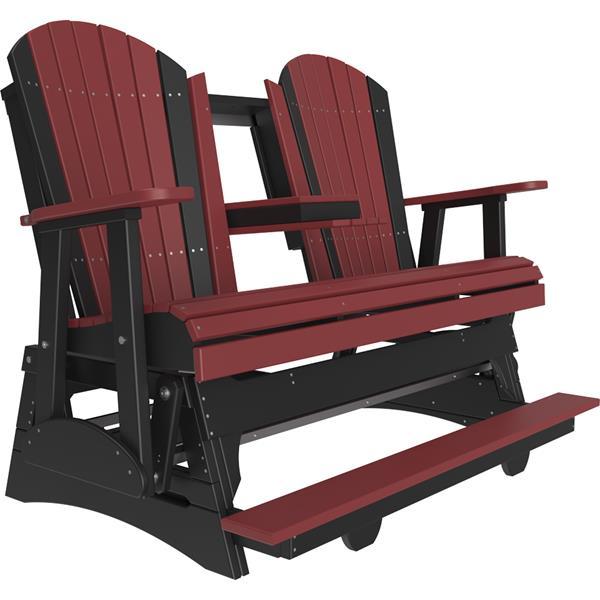 Triple Adirondack Balcony Glider - Cherry & Black