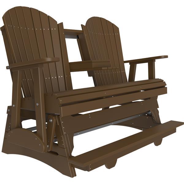 Triple Adirondack Balcony Glider - Chestnut Brown