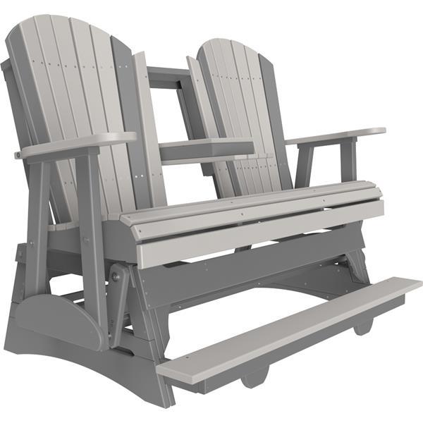 Triple Adirondack Balcony Glider - Dove Grey & Slate