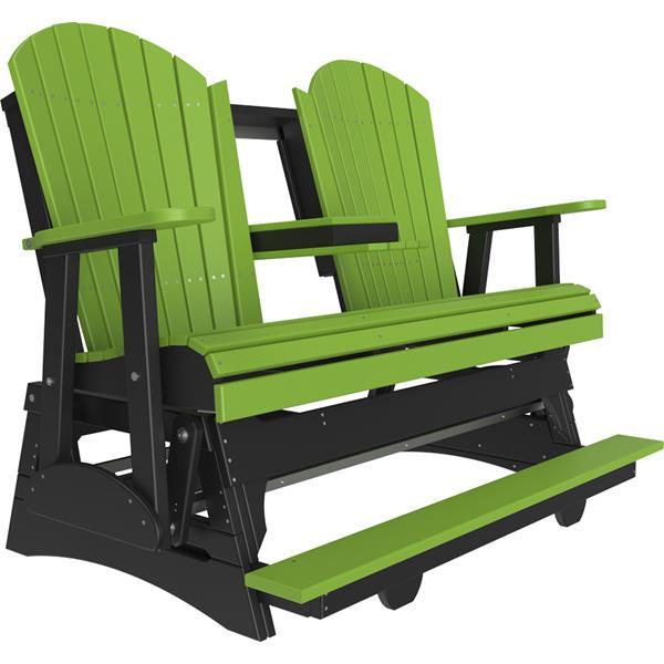Triple Adirondack Balcony Glider - Lime Green & Black