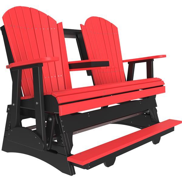 Triple Adirondack Balcony Glider - Red & Black