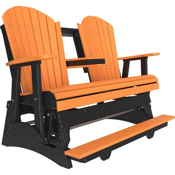 Triple Adirondack Balcony Glider - Tangerine & Black