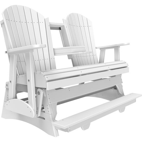 Triple Adirondack Balcony Glider - White