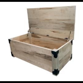 Iron Corner Blanket Box (Lid Open)