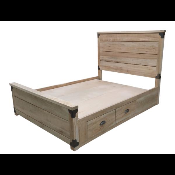 Iron Corner Storage Platform Bed